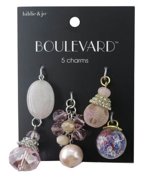 hildie & jo Boulevard 5 Pack Silver & Gold Charms-Multi Beads