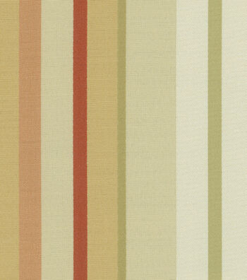"""Waverly Upholstery Fabric 55""""-Piazza Stripe Cameo"""