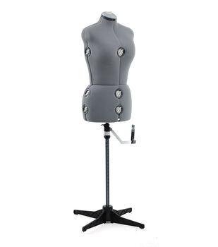 Singer Medium/Large Adjustable Dress Form-Gray