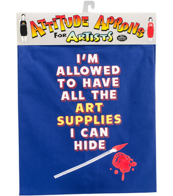 Attitude Artist Apron Blue-Art Supplies