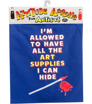 Attitude Artist Apron Blue-Art Supplies