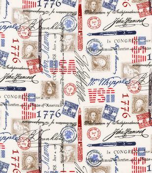 Patriotic Cotton Fabric-The Declaration