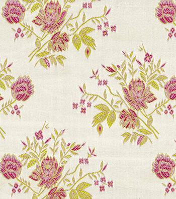 Brocades Fabric -Pink Rose