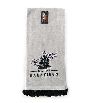 Maker's Halloween Decor 16''x26'' Towel with Trim-Happy Haunting