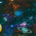 Novelty Cotton Fabric -Large Planets