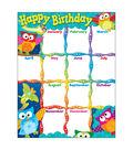 Happy Birthday Owl-Stars! Learning Chart 17\u0022x22\u0022 6pk