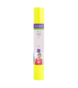 Cricut StrongBond 11.8''x24'' SportFlex Iron-on Sheet-Bright Yellow