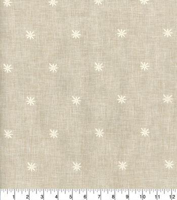 Ellen DeGeneres Multi-Purpose Décor Fabric 54''-Parchment Sunset Embroidery