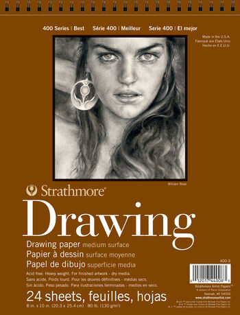 Strathmore 400 Series 24 Sheets 8''x10'' Drawing Pad