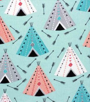 Nursery Flannel Fabric-Arrows & Tents