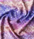 Stretch Chiffon Fabric 57\u0027\u0027-Purple Ikat