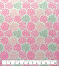 Soft & Comfy Fleece Fabric-Pink & Gray Cloudburst