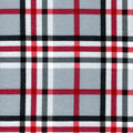 Snuggle Flannel Fabric-Traditional Light Gray & Red Plaid