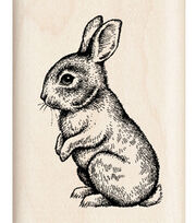 Inkadinkado Rubber Stamp-Baby Bunny, , hi-res