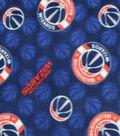 Washington Wizards Fleece Fabric 58\u0022-Logo Toss