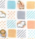 Nursery Flannel Fabric 42\u0022-Safari Patchwork