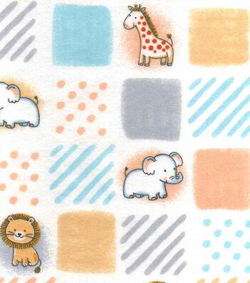 "Nursery Flannel Fabric 42""-Safari Patchwork"