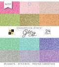 DCWV Pack of 24 6\u0027\u0027x6\u0027\u0027 Cardstock Stack-Glitzy