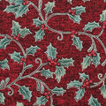 Christmas Cotton Fabric-Holly & Berries on Red