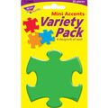 Puzzle Pieces Mini Accents Variety Pack, 36 Per Pack, 6 Packs