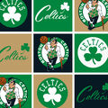 Boston Celtics Fleece Fabric -Block