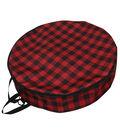 24\u0022 Wreath Storage Bag Plaid-Red & Black