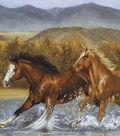 No-Sew Throw Fleece Fabric 72\u0022-Wild Horses