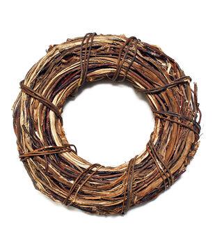 Handmade Holiday Christmas 16''x16'' Dried Wreath