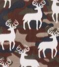 Blizzard Fleece Fabric 59\u0022-Deer Camo
