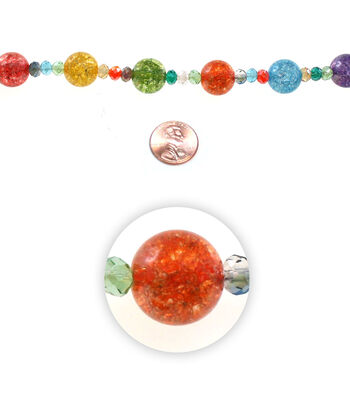 "7"" Resort Cabana Bead Strand-Orb Multi"