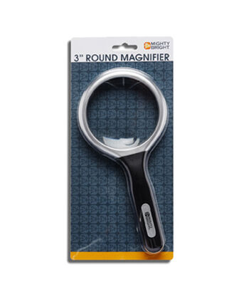 """Mighty Bright 3"""" Round Magnifier-Silver"""