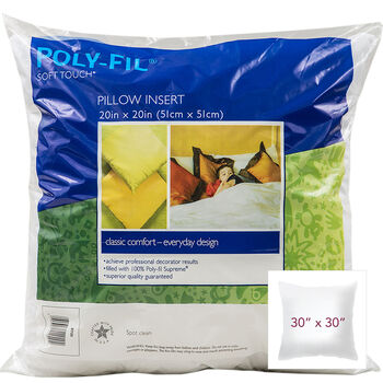 """100% Polyester Filled """"Downlike"""" Pillow - 30"""" Square"""