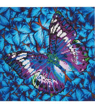 "Diamond Embroidery Facet Art Kit 15""X15""-Flutter By Mauve"