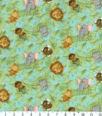 Nursery Flannel Fabric -Tossed Babies
