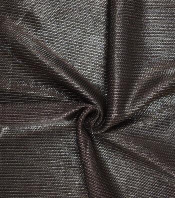 Metallics Mesh Fabric -Black