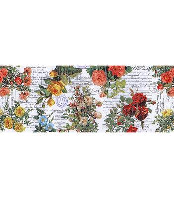 Tim Holtz Idea-ology Collage Paper 6''x6 yds-Floral