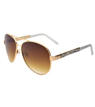 Sunglasses with Rhinestones Detailing on the Side