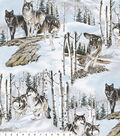 No Sew Fleece Throw Kit 72\u0022-Photo Real Wolves