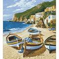 Collection D\u0027Art Diamond Embroidery/Printed/Gem Kit 38X48cm-Fishing Boat