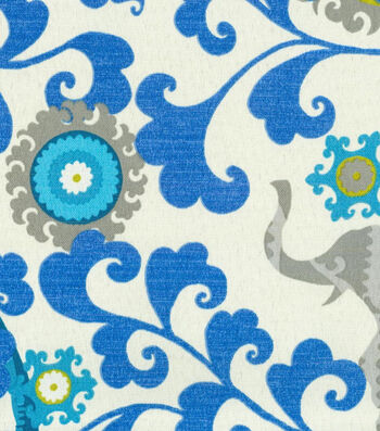 "P/K Lifestyles Outdoor Fabric 54""-Menagerie Sapphire"