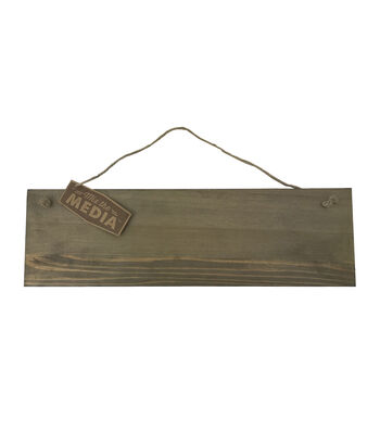 Rustic Wood 15x4.5'' Hanging Sign
