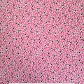 Doodles Juvenile Apparel Fabric 57\u0027\u0027-Ditsy Floral Interlock on Pink