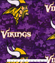 Minnesota Vikings Fleece Fabric -Digi Camo, , hi-res
