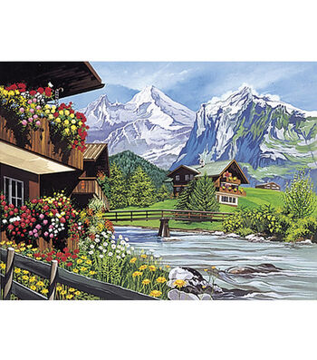 """12""""x15-1/2"""" Paint By Number Kit-Mountain Scene"""