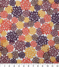 Harvest Cotton Fabric-Multicolored Packed Mums