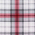 Luxe Flannel Fabric -Madison Red & Black Heather Plaids