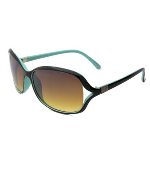 Two-toned Sunglasses with Rectangle Frame-Black & Blue