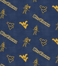 West Virginia University Mountaineers Flannel Fabric 42\u0022-Logo