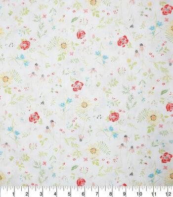 Premium Cotton Fabric-Lucy Florals