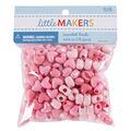 Little Makers Heart Beads-Iridescent Mixed Pink